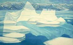 Doris McCarthy - Iceberg Fantasy before Bylot 1974 - oil on canvas Group Of Seven Artists, Canada Images, Surrealism Painting, Canadian Artists, Painting Inspiration, Colour Inspiration, Dory, Impressionism, Art History