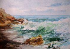 рисунки акварелью море - Поиск в Google