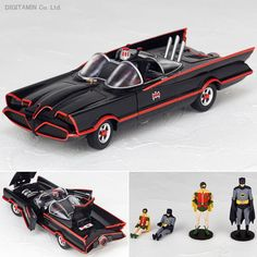 KAIYODO Figure Complex MOVIE REVO No.005 Batman Car Batmobile 1966 1/35 Robin