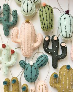 I am getting requests about mobiles and buying individual pieces for diy mobiles daily. Just FYI I am working on an easy way to choose and purchase pieces without magnets or ornamen. Cute Crafts, Felt Crafts, Fabric Crafts, Diy And Crafts, Crafts For Kids, Cactus Craft, Cactus Decor, Diy Weihnachten, Felt Diy
