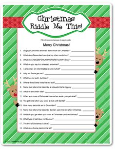 Check out some awesome Christmas riddles we found for you. 11 Q: How do sheep say Merry Christmas in Mexico? Christmas Riddles For Kids, Christmas Trivia Games, Xmas Games, Holiday Games, Christmas Activities, Christmas Printables, Family Christmas, Christmas Traditions, Holiday Fun