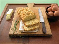 Cheddar Chive Bread.This bread is the perfect accompaniment for soups and stews.