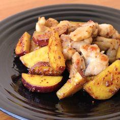 「さつまいもと鶏肉のハニーマスタード焼き」の作り方を簡単で分かりやすい料理動画で紹介しています。ほくほくで甘いさつまいもを使用し、鶏もも肉とハニーマスタードソースで絡めたご飯によく合う一品です。酸味の利いた甘いソースが食欲をそそります。お弁当のおかずにもオススメです。今晩の一品にいかがでしょうか。是非、お試しください。