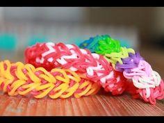 Rainbow loom, Nederlands, hartjes armband, heart bracelet - YouTube