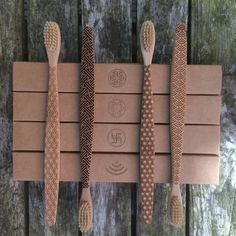 Geometric Bamboo Toothbrush by ItsClearCut on Etsy