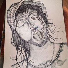 Ink Drawing _ Luke de Villiers #Ink #Sketches #Drawing #Rasberydays #Design #Art #Doodling #theotherbarman #Luke de Villiers Sketches, Zombie, Art Sketches Doodles, Doodles, Ink Drawing, Art, Ink, Humanoid Sketch, Art Sketches