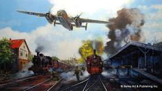 Roosevelt's Reply ~ The James Doolittle raid on Tokyo in April, 1942. Aviation Art by Robert Bailey