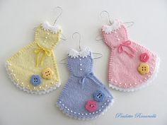 felt dress ornaments - 3.5""