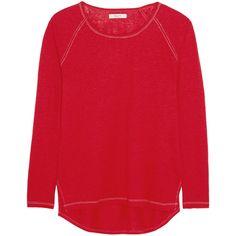 Madewell Kim slub linen-jersey top (3.355 RUB) via Polyvore