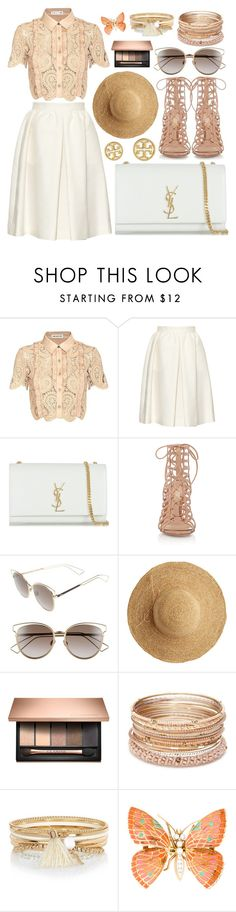 """""""Без названия #343"""" by goldielocks11 ❤ liked on Polyvore featuring self-portrait, Vanessa Bruno, Yves Saint Laurent, Gianvito Rossi, Christian Dior, Flora Bella, Red Camel, River Island and Tory Burch"""