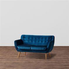 【W1450】ナビア ソファ 2S ベルベット ネイビー(ネイビー) Francfranc(フランフラン)公式サイト|家具、インテリア雑貨、通販