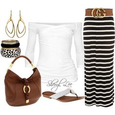 LOVE -- but unsure how the striped skirt would look, but... LOVE!!!!