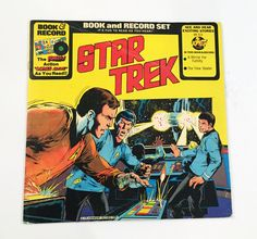 Vintage Star Trek Book & Record Set LP Record Vinyl 1976 Rare