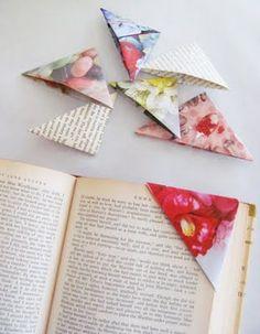 Nice idea: simple triangle paper bookmark.