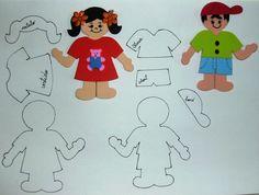 PATRONES DE EVA y sintió el JUJU: varios moldes Felt Dolls, Paper Cutting, How To Draw Hands, Crafts For Kids, Paper Crafts, Templates, School, Blog, Diy
