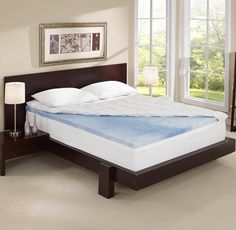Sleep Innovations 4 Inch Dual Layer Mattress Topper Plush Fiber And Gel Memory Foam Is Designed With Comfort Make A Feel Of Splendor To Your Old