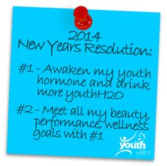 CONTEST! We keep resolutions simple! Re-pin to win a FREE week supply of #youthH2O & 1 of our famous youthful T-shirts! Comment for an extra entry! U.S. only http://www.youthh2o.com/termsconditions/ #Free #Wellness #Beauty