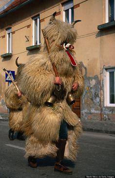 "Kurentovanje at Ptuj, Slovenia. Slovenia's rich tradition of Shrovetide celebrations. ""Kurent"" in one of the oldest mask in Slovenia."