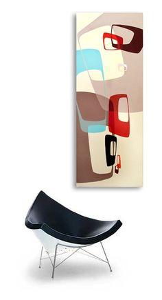 metà secolo pittura astratta moderna retrò di Jetsetretrodesign