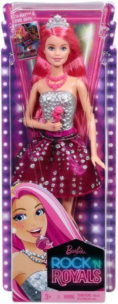 Barbie in Rock 'n Royals Princess Courtney Doll Microphone Mattel for sale online Mattel Dolls, Rock N, Ever After, Kids Toys, Snow White, Aurora Sleeping Beauty, Royals, Cool Stuff, Disney Princess
