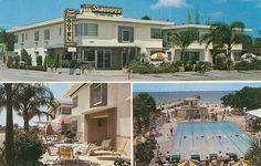 Sandpiper Motel, Clearwater Beach, retro Florida