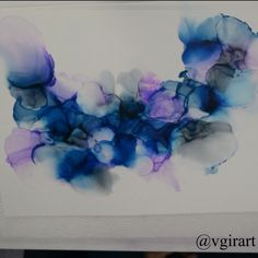 Alcohol ink video Get a look over my shoulders while i create this alcohol ink painting. See the process video and ma Alcohol Ink Crafts, Alcohol Ink Painting, Alcohol Ink Art, Art And Craft Videos, Acrylic Pouring Art, Arts And Crafts Movement, Resin Art, Watercolor Art, Diy Crafts