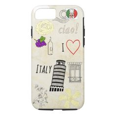 I Love Italy iPhone 7 Case