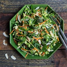 Broccoli Slaw with Miso-Ginger Dressing
