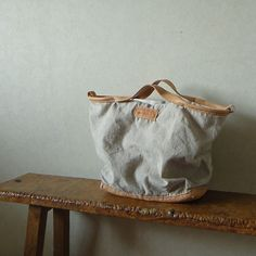 Leather Linen Combo Tote Bag by Asaborake, via Flickr