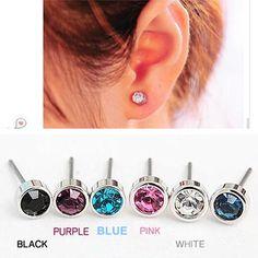 ES0003 Hot Selling Nieuwe Mode Schattige Kleine Eenvoudige Crystal Stud Oorbellen STRING Voor Vrouwen Goedkope Sieraden Accessoires Groothandel