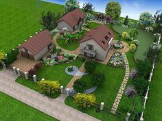 Landscape Design Plans, Garden Design Plans, Small Garden Design, Home Design Plans, Patio Design, Home Building Design, Home Room Design, Spanish Landscaping, Landscaping Ideas