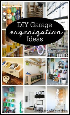Check out these DIY Garage Organization Ideas. Spring cleaning includes the garage!