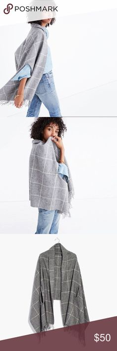 Madewell check cape scarf Brand new madewell cape scarf Madewell Accessories Scarves & Wraps