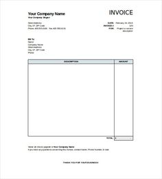 Simple Invoice Sample Free Commercial Lease Invoice  Commercial Template And Free