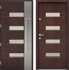Drzwi wejściowe z kolekcji INOX model 419,1-419,11 produkcji AFB-Kraków