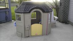 little tikes victorian playhouse painted brown