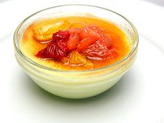 Basil Pudding with Orange, Kumquat & Lime Granita