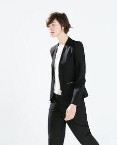 Image 3 of BLAZER WITH METAL ZIPS from Zara