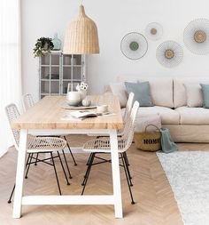 Table - Dining tables - Dining rooms - Kenay Home - I like the lamp and table - Home Living Room, Living Room Designs, Living Room Decor, Interior Decorating, Interior Design, Family Room Design, Home Decor Inspiration, Furniture Design, Sweet Home
