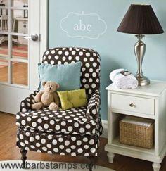 want that polka dot chair!
