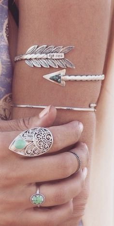Arm cuffs and rings | boho jewelry
