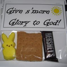 PALANCA: Give s'more Glory to God. Baggie with smore ingredients.