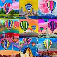 Surreal Hot Air Balloon Collages (1st to 5th grade)