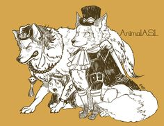 Animals ASL brothers Monkey D. Luffy, Portgas D. Ace, and Sabo One piece