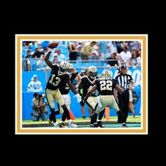 b088384ca77 New Orleans Saints // Drew Brees + Michael Thomas + Alvin Kamara Signed  Commemorative Plaque // custom frame