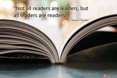 """Not all readers are leaders, but all leaders are readers."" Harry S. Truman I'm currently two thirds the way through The Education of a Coach by David Halberstam. It's the story of Bill…"