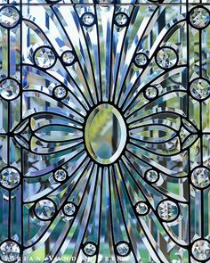 leaded window design George Workman, Landscape Architect
