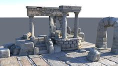 Detailed Temple Ruins | 3D model