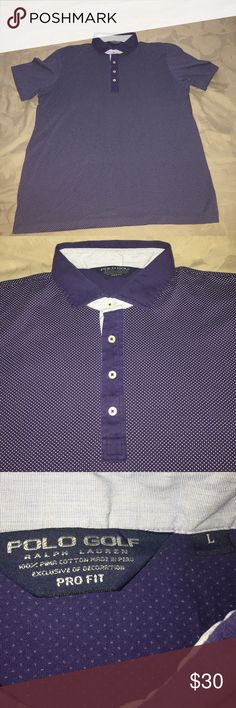 Ralph Lauren Pima Cotton Polo A Ralph Lauren Polo that is Navy with a micro-dot pattern. In great condition. Would look good on the golf course or a night on the town. And is 100% Pima Cotton, it feels incredible. Polo by Ralph Lauren Shirts Polos