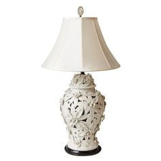 Pair Of White Porcelain Lamps : On Antique Row - West Palm Beach